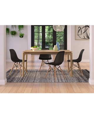 Amazing Deal On Barberton 5 Piece Dining Set Chair Color Black