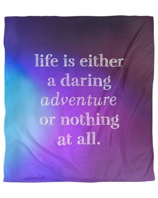 Shop East Urban Home Quotes Life Adventure Single Reversible Duvet Cover Polyester In Blue Purple Size Queen Duvet Cover Wayfair