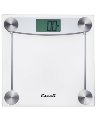 Escali Clear Glass and Chrome Digital Bathroom Scale