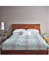One Bella Casa Anya Stripes and Dots Lightweight Duvet Cover Set 72617LDV Size: King