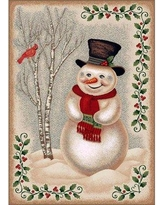 """The Holiday Aisle Norsworthy Snowman Tufted Beige/Green Area Rug X111338428 Rug Size: Rectangle 3'10"""" x 5'4"""""""