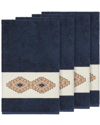 Millwood Pines Embassy Embellished Turkish Cotton Bath Towel BF110031 Color: Midnight Blue