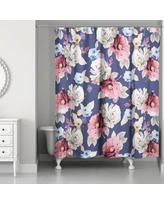 Darby Home Co Arnott Floral Print Shower Curtain DABY6301
