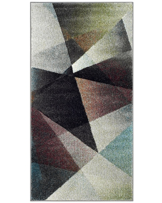 Gray/Multi Abstract Loomed Accent Rug - (2'7x5') - Safavieh