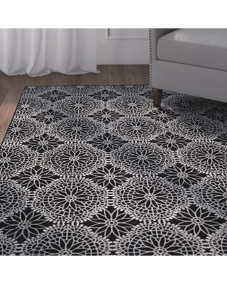 Alcott Hill Eagleview Black Area Rug ALCT8341 Rug Size: Runner 2'1 x 7'1