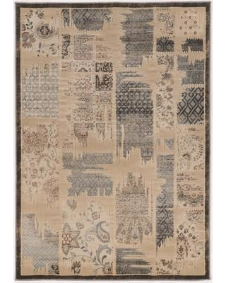 """Bungalow Rose Pasho Beige/Gray Area Rug BNGL7058 Rug Size: Rectangle 8' x 10'4"""""""