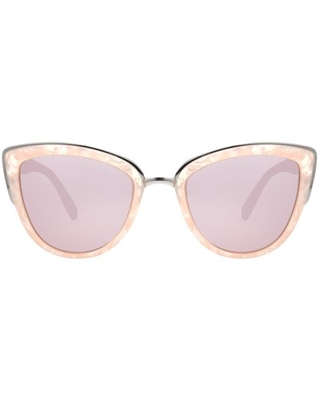 Steve Madden Women's Pink Cat-Eye Sunglasses with Silver Inlay