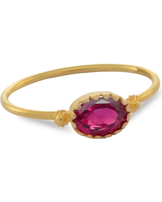 Emma Chapman Jewels - Grecian Gold Red Spinel Ring