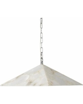 "Jamie Young Borealis 15""W Alabaster Pyramid Pendant Light"
