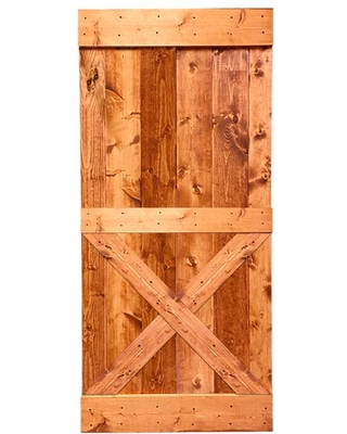 Don T Miss These Deals On Calhome Distressed Mini X Series 36 In X 84 In Red Walnut Stained Solid Knotty Pine Wood Interior Sliding Barn Door Slab