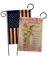 Deals On Breeze Decor Amazing Grace Burlap 2 Sided Polyester 18 5 X 13 In Garden Flag In Beige Size Small Less Than 13 Wide Medium 13 30 Wide Wayfair