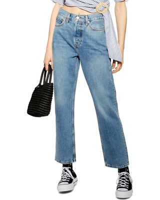 5d25305522b582 Check out some Sweet Savings on Women's Topshop High Waist Dad Jeans ...