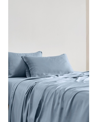 MODERN THREADS Italian Hotel Collection 400 Thread Count 100% Tencel Sheet Set - Blue - King at Nordstrom Rack