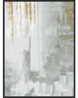 Mercer41 'Watercolor Texture' Framed Graphic Art Print on Canvas BF171344