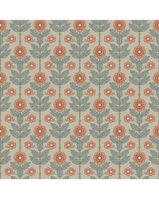 MANHATTAN COMFORT INC Whittier Aya Beige Floral Paper Strippable Wallpaper Roll (Covers 56.4 sq. ft.)