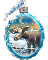 The Holiday Aisle Moose Glass Ornament THLY6705