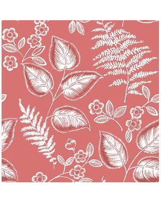 """Brewster Home Fashions Trianon 33' x 20.5"""" Botanical Wallpaper Roll BZH7261 Color: Coral"""