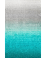 nuLOOM Ombre Shag Rug, Turquoise