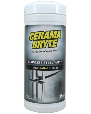 Cerama Bryte 48635 Stainless Steel Cleaning Wipes, 35-ct (GVI48635) | Quill