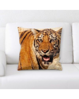 East Urban Home Tiger Throw Pillow W000965117