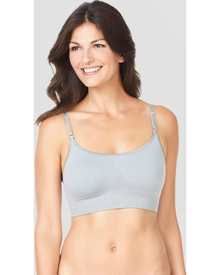 7cfe507801 Simply Perfect by Warner s Women s No Dig Seamless Wireless Bra - Gray  Heather L