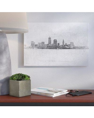 """Wrought Studio Cleveland Pointillism Painting Print on Wrapped Canvas VKGL7493 Size: 24"""" H x 36"""" W x 2"""" D"""