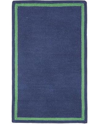 Capel Chenille Rug 9 X 12 Rectangle Dark Navy With Green