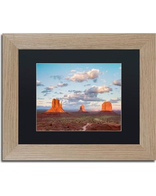 """Trademark Art Scarlet Monuments' Framed Photographic Print on Canvas ALI3819-T1 Size: 11"""" H x 14"""" W x 0.5"""" D Matte Color: Black"""