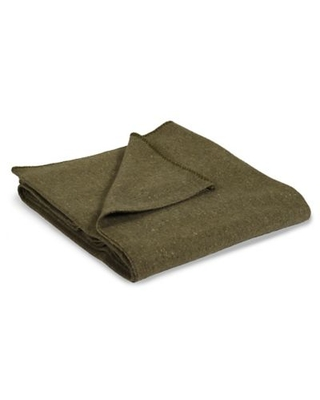 Stansport® Wool-Blend 60-Inch x 80-Inch Travel Blanket in Olive Green