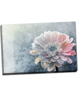 "Winston Porter 'Winter Flower' Graphic Art Print BF117392 Format: Wrapped Canvas Size: 12"" H x 18"" W x 1.5"" D"