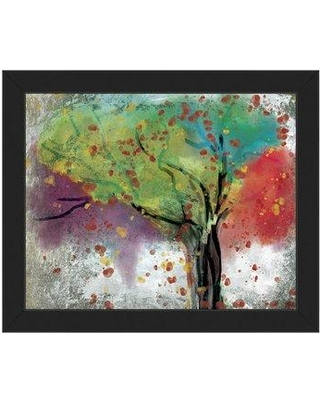 "Click Wall Art 'Changing Trees' Framed Painting Print TRE0000134FR Frame Color: Black Size: 22.5"" H x 26.5"" W x 1"" D"