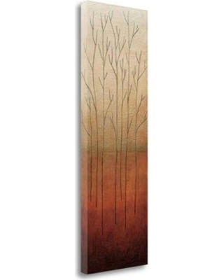 """Tangletown Fine Art 'Branch Rouge II' Graphic Art Print on Wrapped Canvas CA312543-1339c Size: 48"""" H x 16"""" W"""