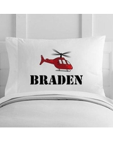 4 Wooden Shoes Personalized Helicopter Toddler Pillow Case WF-12-132