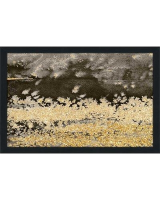 """PicturePerfectInternational 'Gold Winds Square I ' by Lanie Loreth Framed Watercolor Painting Print on Acrylic 705-6011_ Size: 21.5"""" H x 27.5"""" W x 0.75"""" D Frame Color: Espresso"""