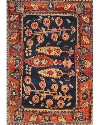 Bloomsbury Market Thigpen Traditional Red/Black Area Rug X112873992 Rug Size: Round 5'
