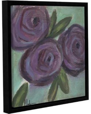 """Ophelia & Co. Purple Flowers Framed Painting Print on Canvas OPCO2954 Size: 36"""" H x 36"""" W"""