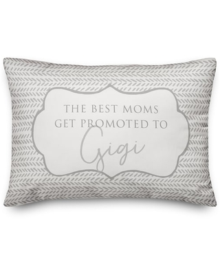 The Best Moms Get Promoted To Gigi Throw Pillow By Designs Direct | Michaels®