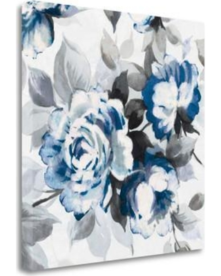 "Tangletown Fine Art 'Scent of Roses Indigo III' Graphic Art Print on Canvas WA621958-1818c Size: 35"" H x 35"" W"
