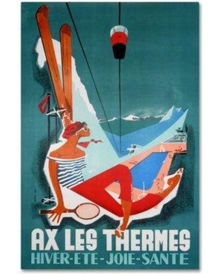 """Trademark Fine Art 'Ax Les Thermes' Wall art on Wrapped Canvas ALI6499-CGG Size: 47"""" H x 30"""" W"""