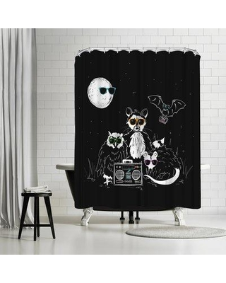 East Urban Home NDTank We Wear Our Sun Glasses At Night Single Shower Curtain ETHH3246