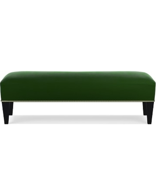 Superb Fairfax Bench Ottoman Tapered Leg Untufted 61 Signature Velvet Emerald Antique Brass Pdpeps Interior Chair Design Pdpepsorg