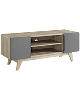 """Tread 47"""" TV Stand Natural Gray - Modway"""