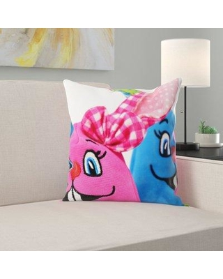 East Urban Home Easter Throw Pillow W000281225