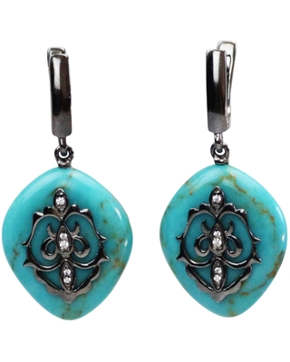 Bellus Domina - Sterling Silver Turquoise Earrings