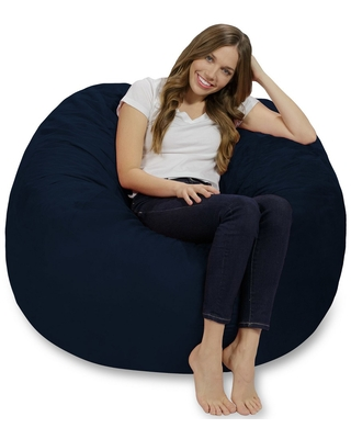 Foam Bag Chair 4 ft - Navy Blue - Relax Sacks