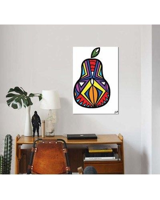 """East Urban Home 'Poire' Graphic Art Print on Canvas EBHU8516 Size: 40"""" H x 26"""" W x 1.5"""" D"""