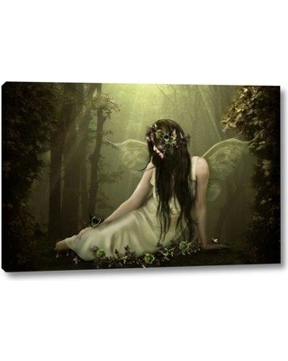 "East Urban Home 'Forest Fairy' by Babette Giclee Art Print on Wrapped Canvas BF098868 Size: 21"" H x 32"" W x 1.5"" D"