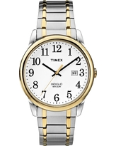 Men's Timex Easy Reader Expansion Band Watch - Two Tone TW2P81400JT, Light Gold