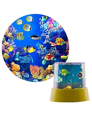 Projectables 35181 Underwater Soft White LED Night Light, Yellow Base