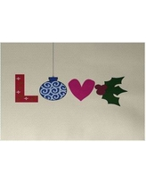 The Holiday Aisle Love! Decorative Holiday Word Print Indoor/Outdoor Area Rug HLDY5863 Rug Size: Rectangle 3' x 5'